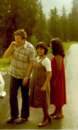 From left David lamb, Saida and Joyce Lamb