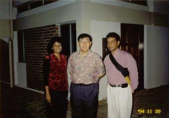 Sylvester & Juliana Nicholas with Fr Lee