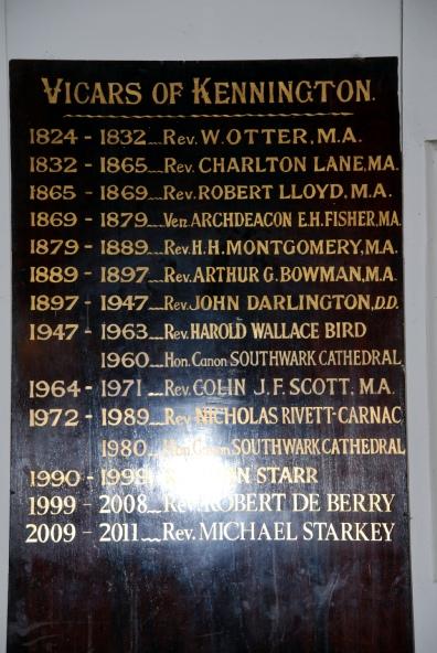Vicars' plaque