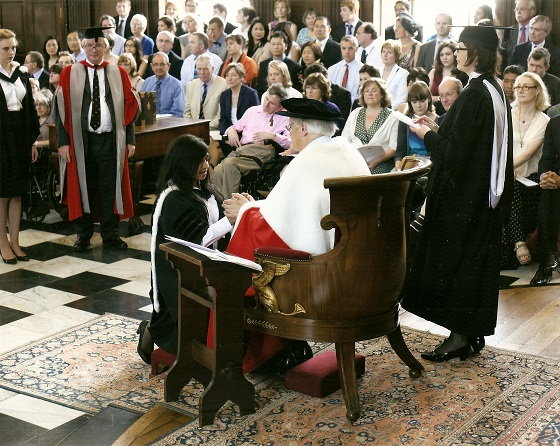 Jannine being admitted to her BA on 28 June 2012